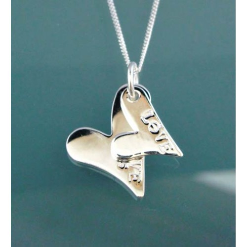 Double Heart Pendant and Chain
