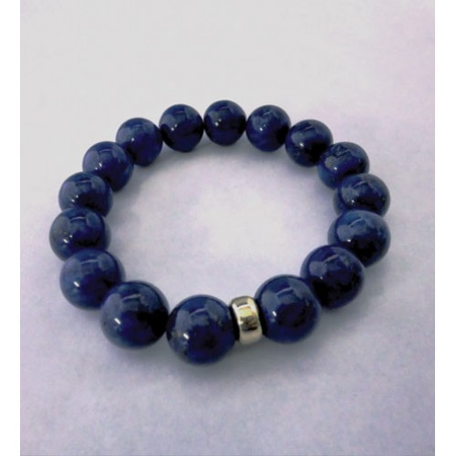 Lapis and Gold Plated Bracelet