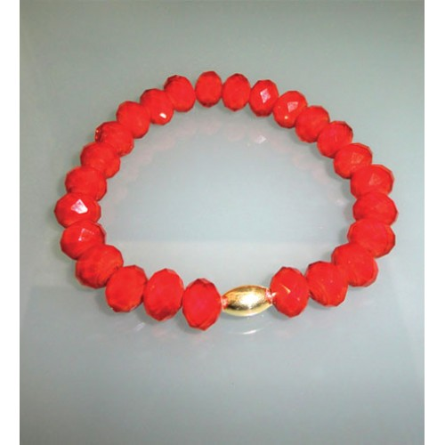 Red Crystal and Gold Plated Bracelet