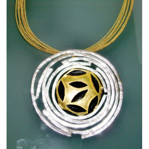 Gold Plated and Silver Pendant