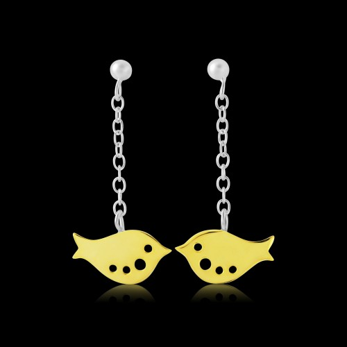 Silver and Gold Plated Bird Drops