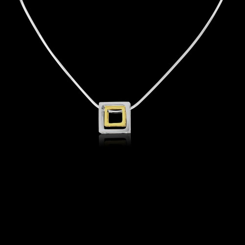 Cube Pendant and Chain