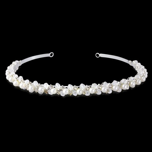 Ava Pearl and Clear Stone Hairband