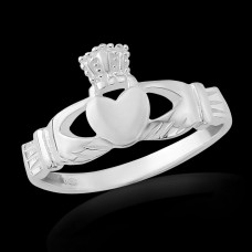 Traditional Claddagh Ring,  sterling silver