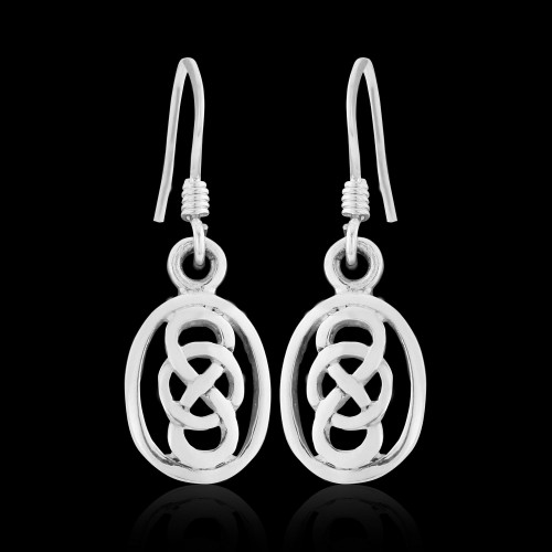 Celtic Knot Drops with Hook Backs