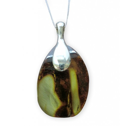 Amber pendant and Chain
