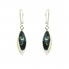 Abalone Shell Sterling Silver Earrings with Hook backs