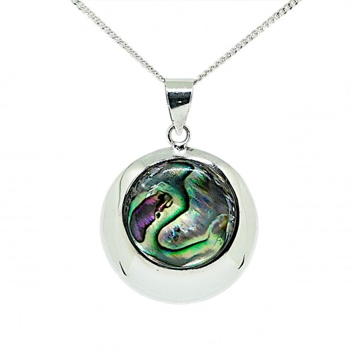 Abalone Sterling Silver Pendant and Chain