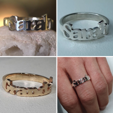 Name Rings made to Order in Recycled Silver or Gold