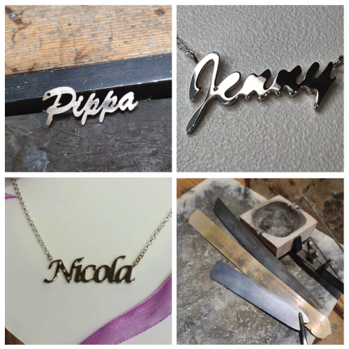 Name Necklaces. Personalized to Order in Recycled Silver