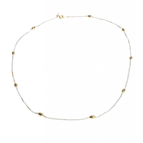 Silver and Gold Plated Necklet