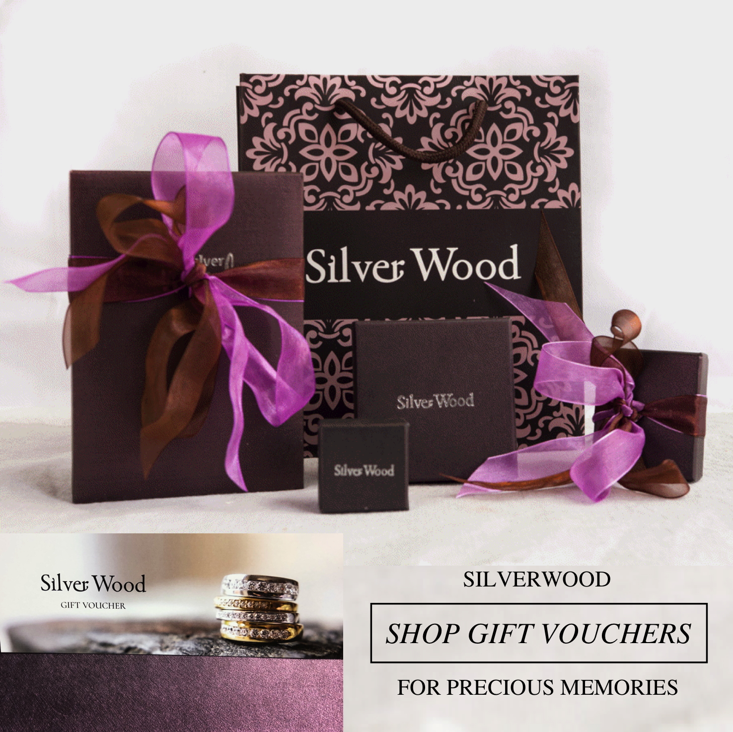 Silverwood gift voucher and gift packaging ribbons and bows