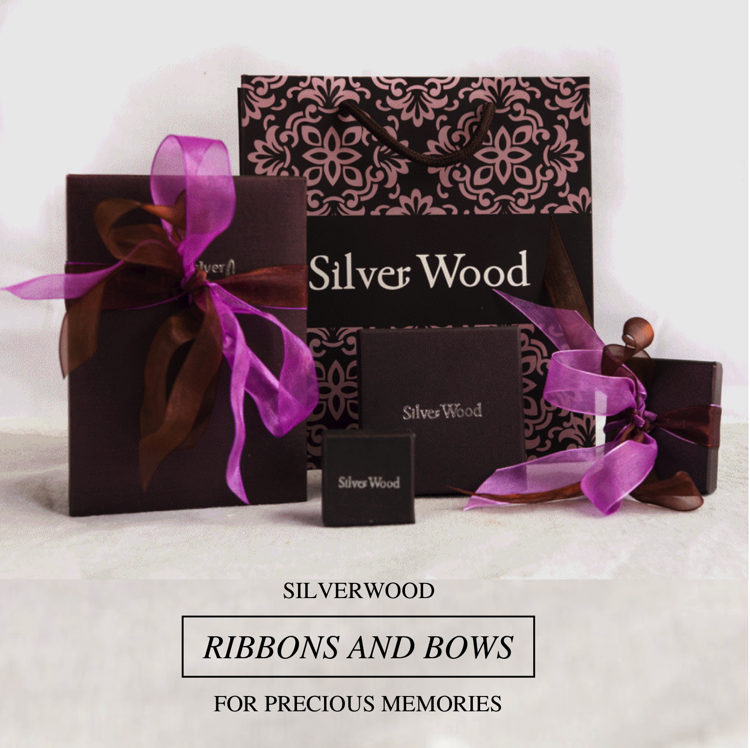 Silverwood gift packaging ribbons and bows